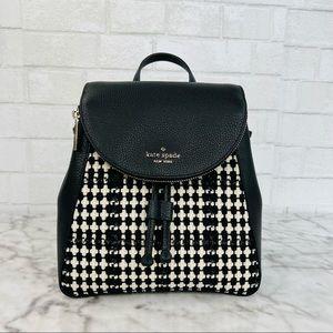Kate Spade Leila Tweed Fabric Medium Flap Backpack